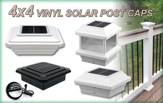 4x4 Vinyl Solar Post Cap Lights