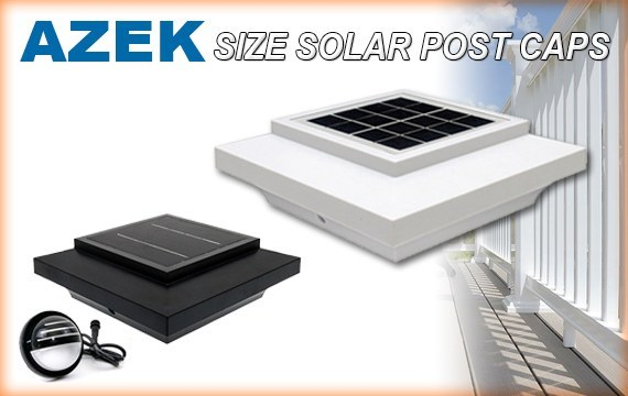 Azek Solar Post Cap Lights