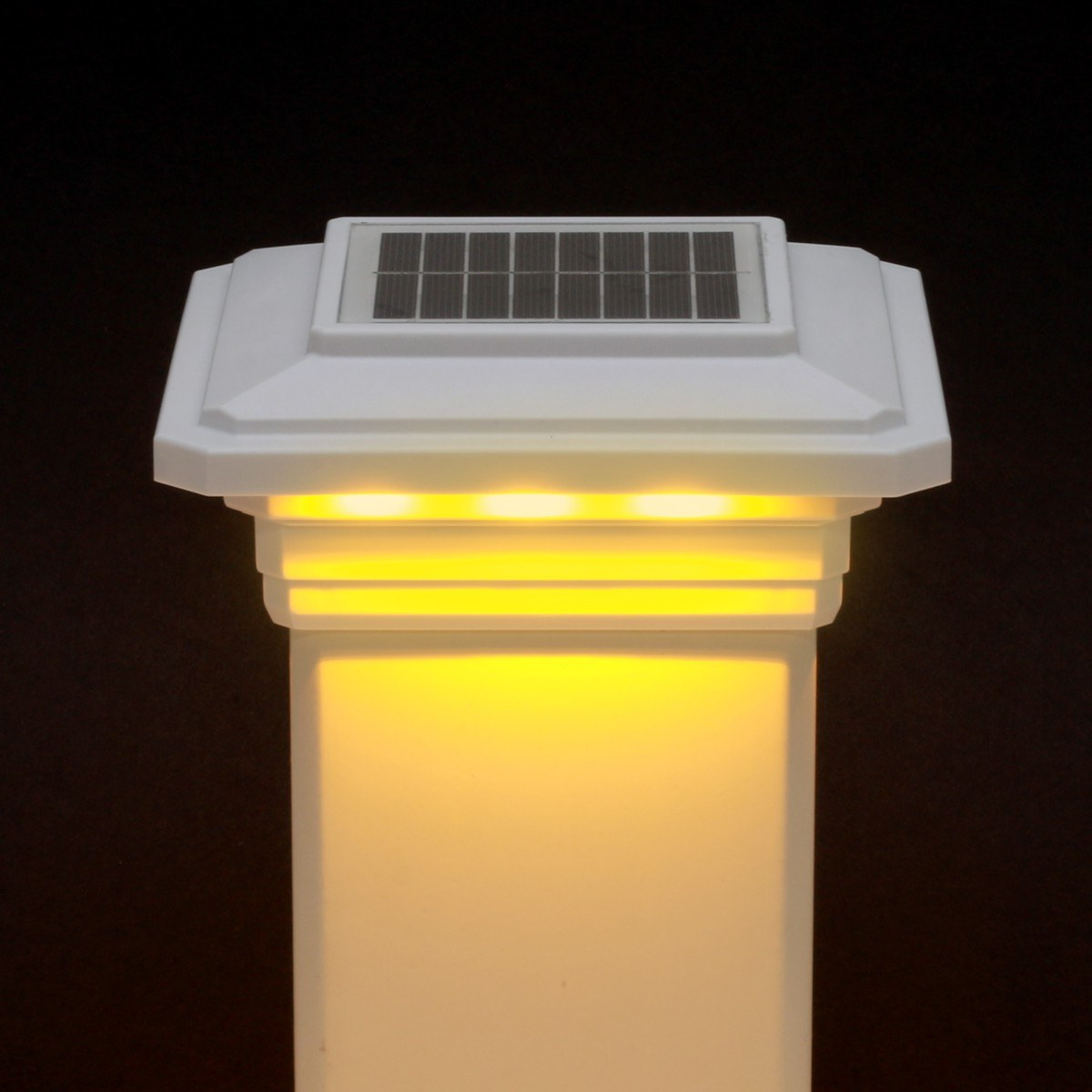 Solar Post Cap Light