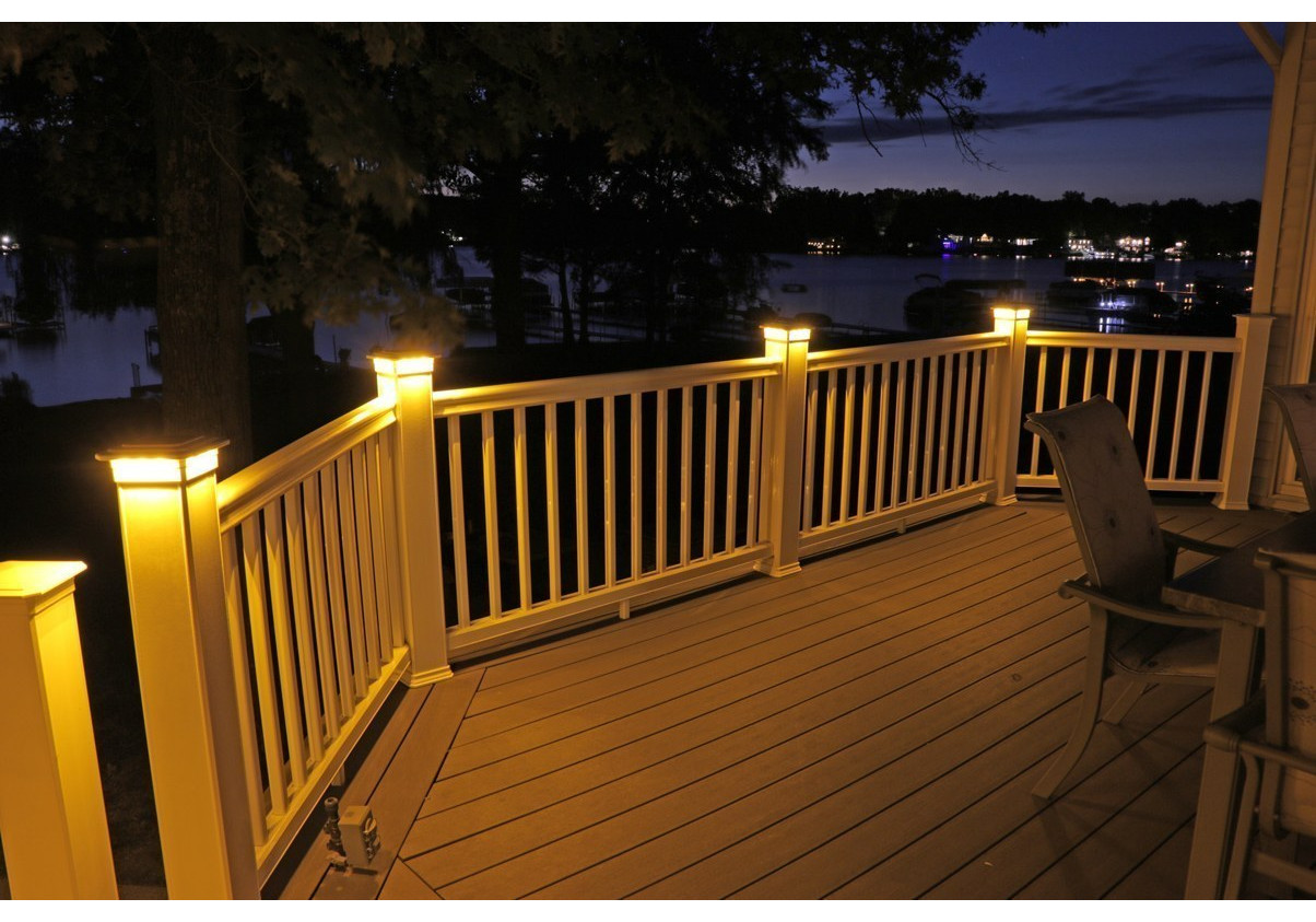 Solar Post Cap Deck Fence Color Led Lights 5x5 Or 6x6 White Colored 2 Pack