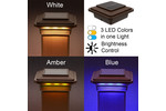4-1/2 in. x 4-1/2 in. Solar Post Cap Light for Trex- (Vintage Lantern/Brown) - 3 LED Colors