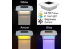 5 in. x 5 in. Solar Post Cap Light - White - 3 LED Colors