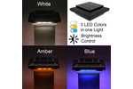 5-1/2 in. x 5-1/2 in. Solar Post Cap Light for Azek |Trex |Wood - Black - 3 LED Colors