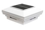 4 in x 4 in White Solar Post Cap Light- White LED