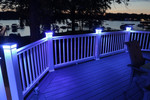 5-1/2 in. x 5-1/2 in. Solar Post Cap Light for Azek |Trex |Wood - White - 3 LED Colors