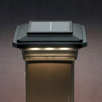 Solar post cap lights ultra bright technologies solar post cap light black 3 led aloadofball Images