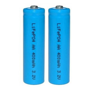 2pk LiFePO4 Solar Rechargeable Battery 400mA