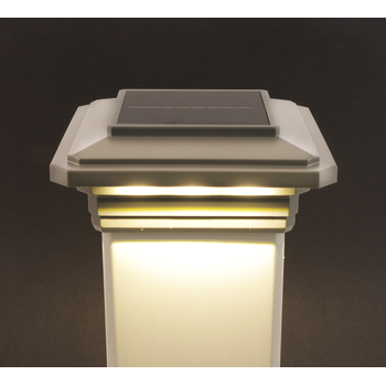 4-1/2 in. x 4-1/2 in. Solar Post Cap Light for Trex - Gravel Path - 3 LED Colors