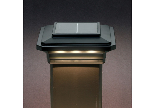 4-1/2 in. x 4-1/2 in. Solar Post Cap Light for Trex - Charcoal Black - 3 LED Colors