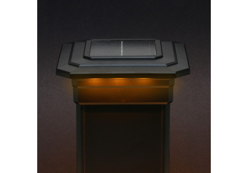 5 in. x 5 in. Solar Post Cap Light - Black - 3 LED Colors