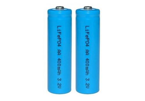 2pk LiFePO4 Solar Rechargeable Battery 400mA