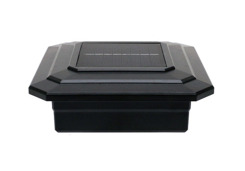 5-1/8 in. x 5-1/8 in. Solar Post Cap Light for TimberTech - Black - 3 LED Colors