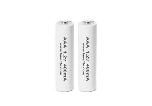 2 Pack AAA 1.2v 400mA Rechargeable Batteries