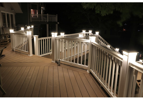 5-1/8 in. x 5-1/8 in. Solar Post Cap Light for TimberTech - Kona - 3 LED Colors