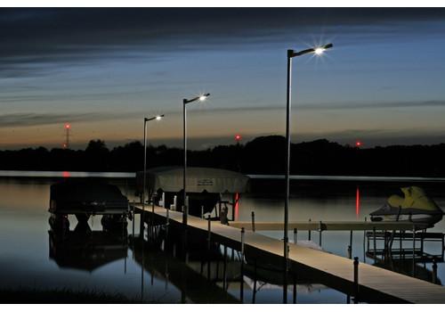 Solar Sky Post Light with Motion Sensor - NEW